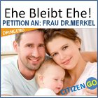 CitizenGO Petition an: Frau Dr. Merkel - Ehe bleibt Ehe!